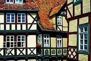 Half-timbered Construction under Castle-Hill